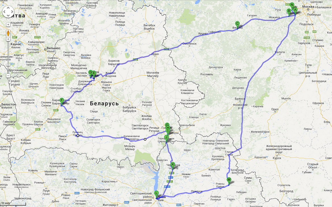 карта автостопа