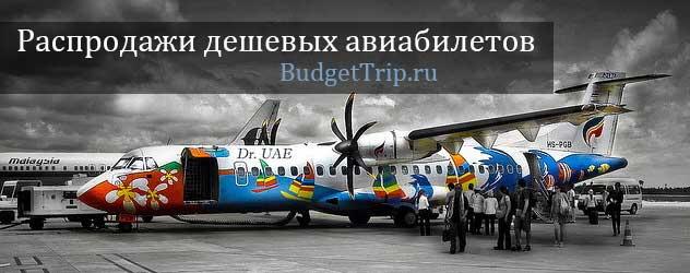 Распродажа дешевых авиабилетов